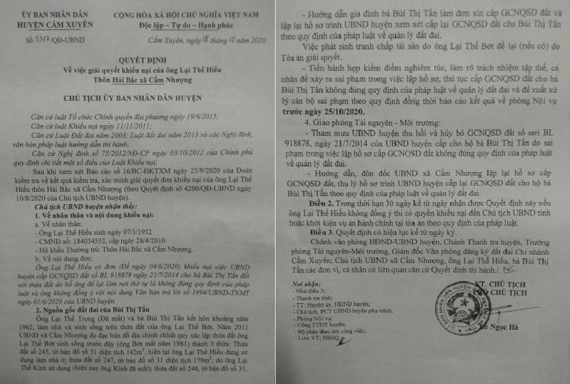 Xem xét kỷ luật cán bộ liên quan vụ người chết 30 năm vẫn ký xác nhận đất đai