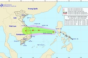 Áp thấp nhiệt đới khả năng mạnh thành bão, đi vào vùng biển Đà Nẵng - Phú Yên