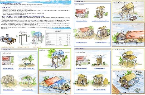 Nhà chống lũ chi phí rẻ, giúp người dân an toàn trong mưa lũ ở miền Trung