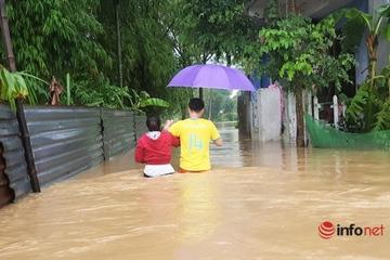 Quảng Nam: Mưa lớn kèm động đất, nhiều nơi bị ngập sâu