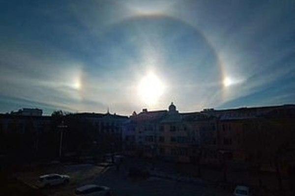 Ba mặt trời xuất hiện cùng lúc hiếm có ở Trung Quốc