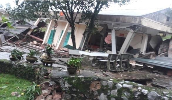 Quảng Bình: Sạt lở đất đồi đè sập 3 dãy nhà của Đồn Biên phòng