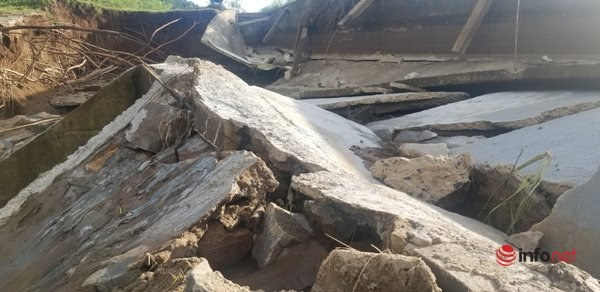 Công trình thủy lợi trăm tỷ chưa kịp nghiệm thu đã hư hỏng tan hoang