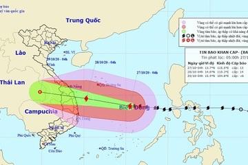 Bão số 9 giật cấp 17 tiến nhanh vào Đà Nẵng – Phú Yên