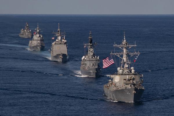 Tàu chiến 'khủng nhất' của Nhật tập trận với Mỹ sau sứ mệnh ở Biển Đông