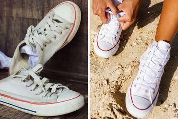 5 cách đơn giản làm sạch giày trắng bị ngả màu