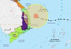 Bão số 9 giật cấp 16 cách bờ biển hơn 100km, đi rất nhanh vào đất liền