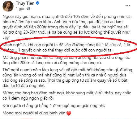 """Thủy Tiên trần tình việc trao 200 triệu cho cụ ông Hà Tĩnh: """"1 là cứu cả, 2 là không"""""""