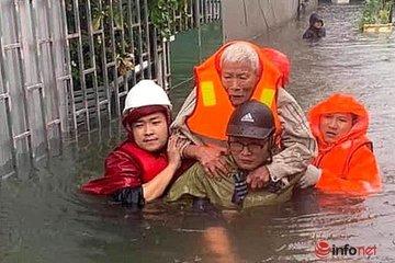 Nghệ An: Sơ tán hàng trăm hộ dân vùng ngập sâu và sạt lở