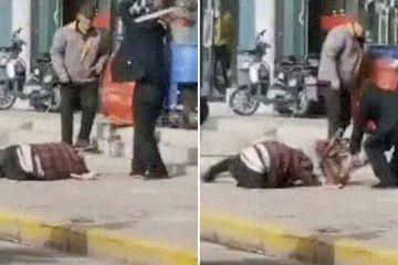 Dã man người chồng Trung Quốc đánh vợ tới chết ngay giữa đường phố