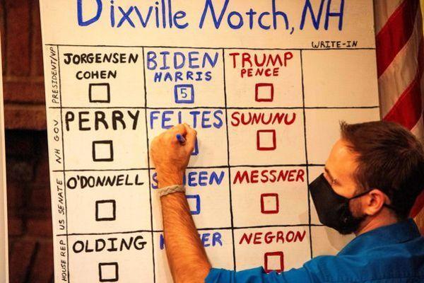 Hai thị trấn đầu tiên đi bầu Tổng thống Mỹ, kết quả đã công bố