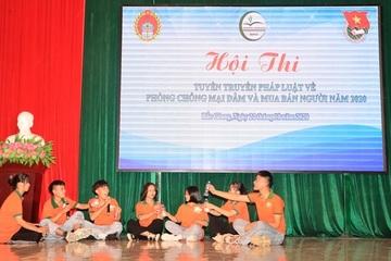Tìm hiểu pháp luật về phòng chống mua bán người trong hội thi sôi nổi ở Bắc Giang