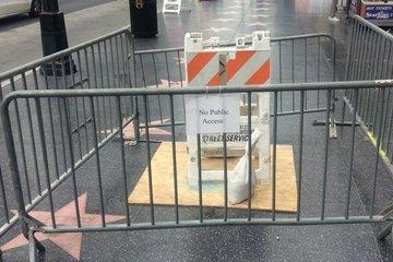 Ngôi sao của ông Trump ở Đại lộ Danh vọng được quây lại, ngăn phá hoại