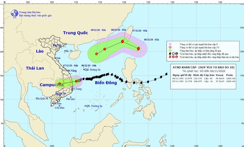 Áp thấp nhiệt đới gió giật cấp 8 trên vùng biển Quảng Ngãi - Phú Yên