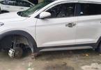 Tài xế xe dịch vụ đi tháo trộm hàng loạt bánh xe ô tô ở Nghệ An