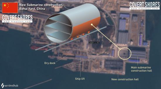 Ảnh vệ tinh tố Trung Quốc đóng tàu ngầm 'khủng' không thua kém Mỹ