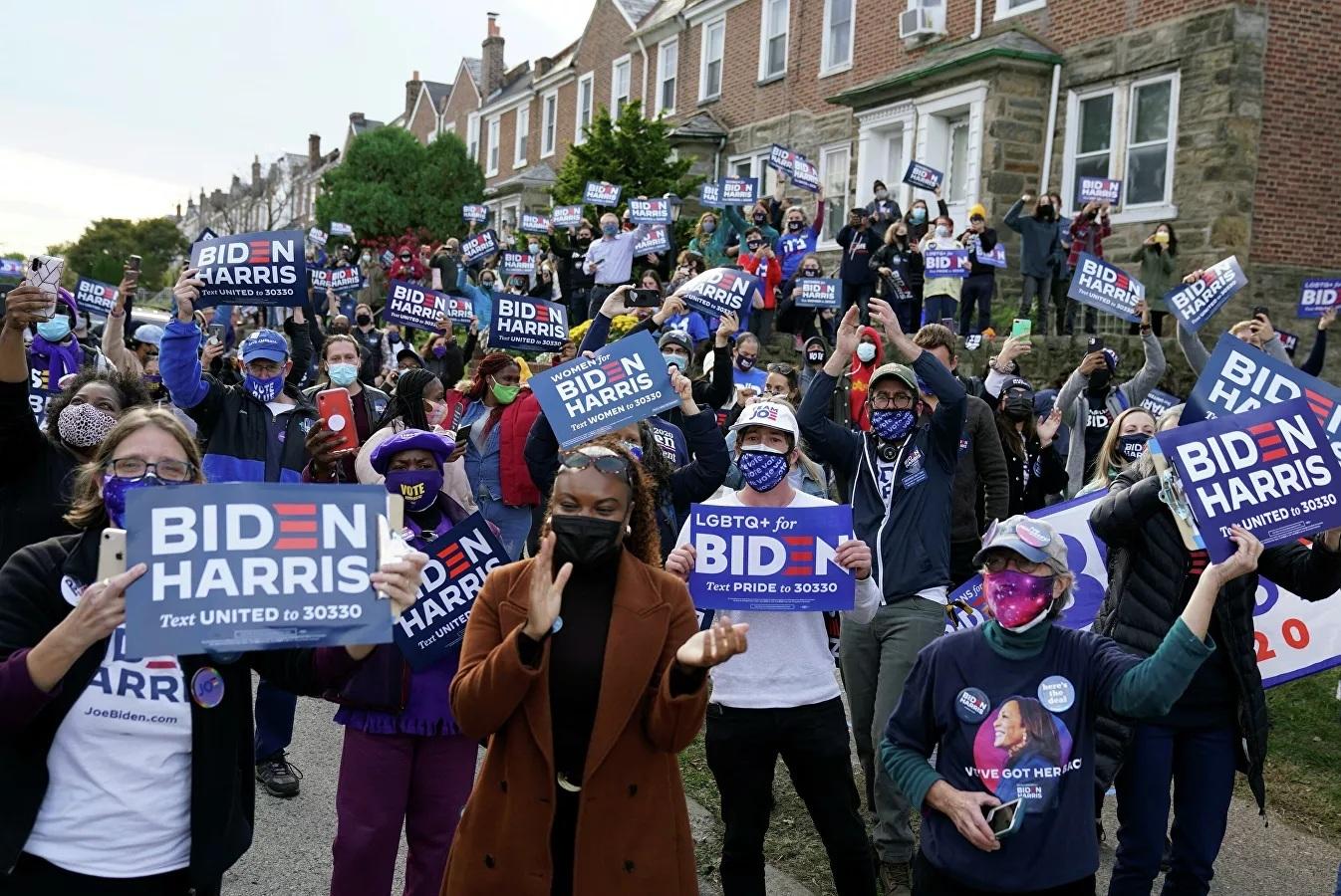 Hàng trăm người ủng hộ ông Biden 'ăn mừng' ở New York