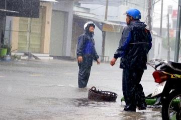 Mưa rất to sau bão số 12, đề phòng ngập lụt, lũ quét và sạt lở đất ở miền Trung và Tây Nguyên