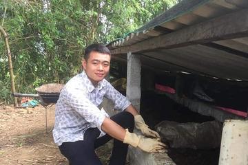 Chàng trai dân tộc thoát nghèo nhờ mô hình nuôi giun quế
