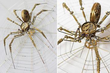 Sáng tạo nhện khổng lồ sống động như thật từ kim loại bỏ đi