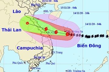 Bão số 13 gió giật cấp 15 khi gần bờ biển, Nghệ An - Quảng Nam mưa rất to