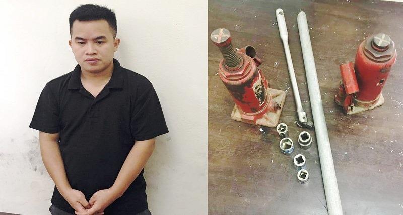 Khởi tố tài xế xe dịch vụ tháo trộm hàng loạt bánh xe ô tô ở Nghệ An