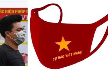 Gợi ý dùng khẩu trang vải in hình 'cờ đỏ sao vàng' để phòng chống dịch