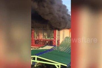 Hàng xóm phá chuồng cọp, giải cứu gia đình 3 thế hệ khỏi đám cháy