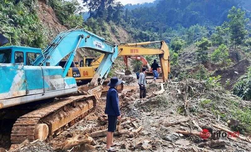 Quảng Nam: Khẩn trương khắc phục sạt lở thông đường vào 2 xã bị cô lập