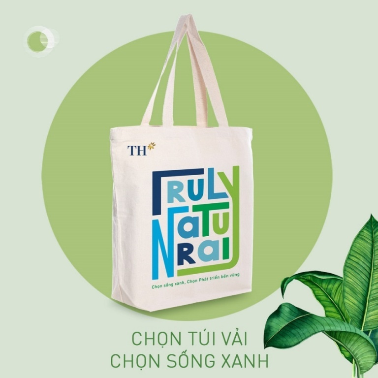 Túi vải canvas TH: Khuyến khích người tiêu dùng giảm túi nhựa dùng một lần