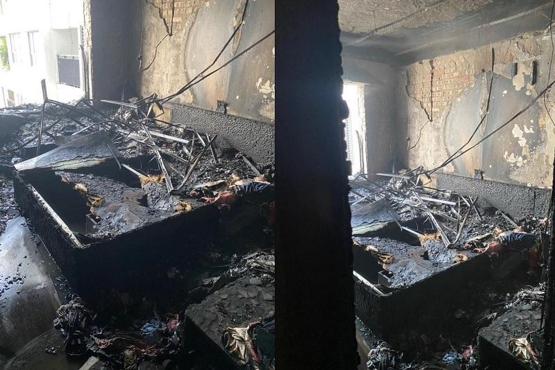 Hà Nội: Cháy lúc giữa trưa, cả căn hộ  chung cư bị thiêu rụi