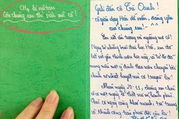 """Những tấm thiệp 20/11 dễ thương """"vô cực"""" của học sinh xứ Nghệ"""