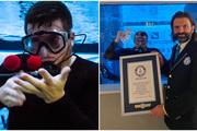 Người đàn ông mê làm ảo thuật dưới nước lập kỷ lục thế giới