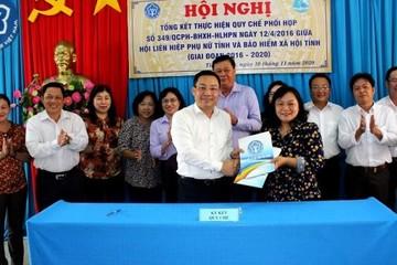 Người tham gia bảo hiểm tăng nhờ sự phối hợp chặt chẽ Hội LHPN và BHXH tỉnh