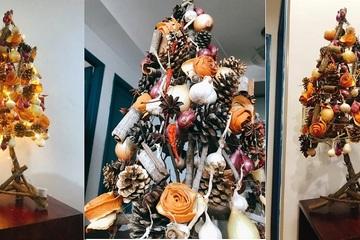 """Sáng tạo cây thông Noel """"nồng nàn vị bếp"""""""