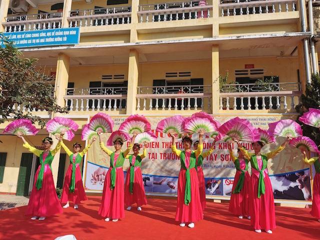 Thái Bình: 8/8 huyện tổ chức hoạt động đồng diễn thể thao không khói thuốc