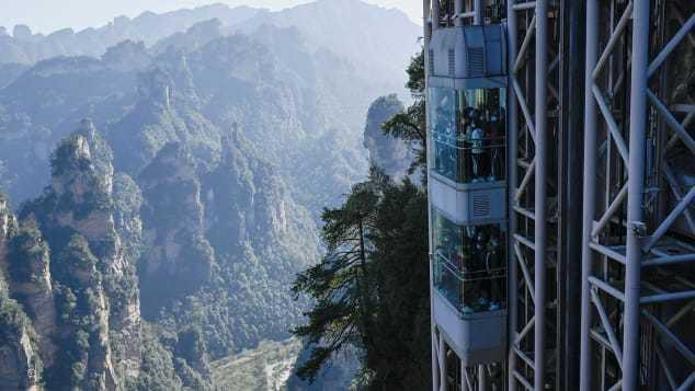 Cận cảnh thang máy ngoài trời cao nhất thế giới
