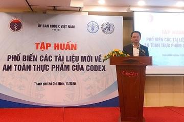 """Tập huấn """"Phổ biến các tiêu chuẩn mới của Codex về An toàn thực phẩm"""""""