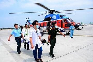 Nhiều ca bệnh nguy kịch từ đảo được cấp cứu y tế đường hàng không