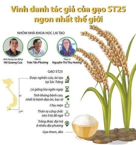 ST25 gạo thơm số 1 thế giới, thành quả đột phá KH&CN của nhóm tác giả Việt Nam