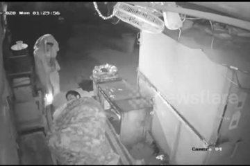 Cái kết đầy may mắn cho nhân viên bảo vệ bị đốt gối khi đang ngủ say