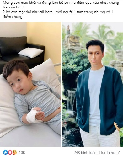Diễn viên Việt Anh tâm sự với con trai mà khiến ai cũng bật cười