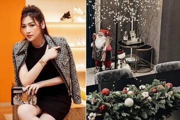 Mê mẩn cách bài trí đón Giáng sinh của Á hậu Dương Tú Anh