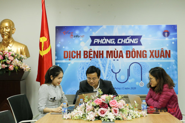 Giao lưu trực tuyến Phòng, chống dịch bệnh phổ biến mùa đông xuân