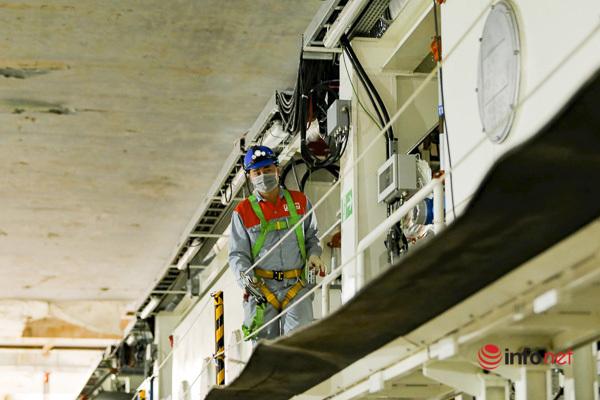 Cận cảnh robot đào hầm dự án đường sắt đô thị Nhổn - Ga Hà Nội