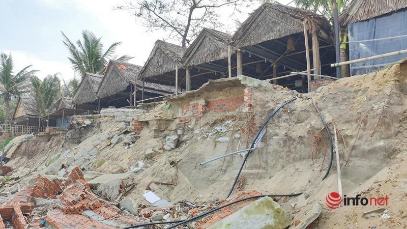 Hoang tàn ven biển Hội An sau đại dịch, bão, nhà hàng đổ nát, chủ 'chết lặng'