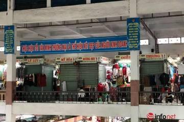 Khu chợ sầm uất bậc nhất Đà Nẵng vắng khách, nhiều ki ốt phủ bạt nghỉ bán