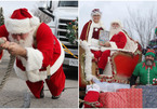'Ông già Noel' lập kỷ lục Guinness với chiếc xe tuần lộc