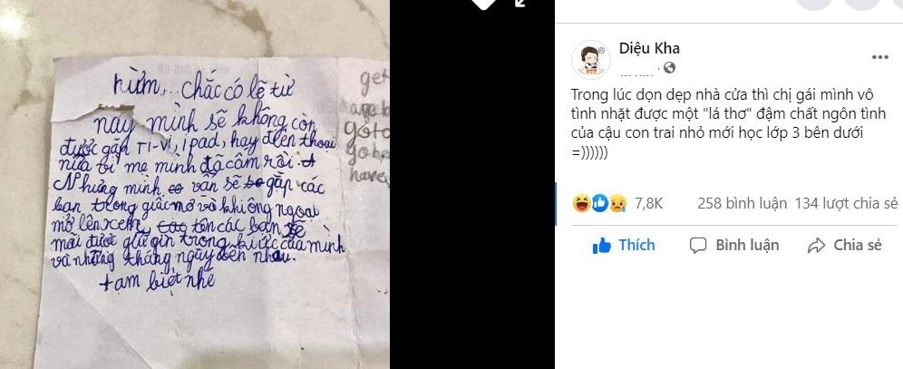 'Lá thư ngôn tình' của cậu bé gửi 'bạn iPad, điện thoại' khiến ai cũng bật cười