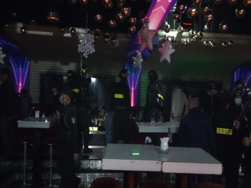 Đột kích quán Bar ở TP Đà Lạt, phát hiện hàng chục người dương tính ma túy